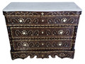 Bone Inlay Dresser with Three Drawers - MOP-DR067