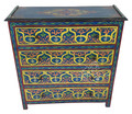 Vintage Hand Painted Wooden Dresser - HP-CA060