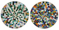 24 Inch Vivid Color Round Tile Table Top - MTR324
