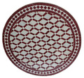 28 Inch Intricately Designed Mosaic Tile Table Top - MTR329