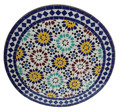 28 Inch Intricately Designed Mosaic Tile Table Top - MTR330