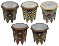 Multi Color Hand Painted Side Tables - HP333