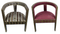 Metal and Bone Chair with Fabric Seating- MB-CH037