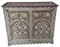 Large Vintage Metal and Bone Cabinet - MB-CA074