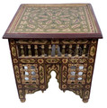 Hand Painted Square Side Table - HPS011