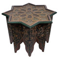 Multi Color Hand Painted Star Shaped Side Table - HP335