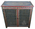 Vintage Hand Painted Wooden Cabinet - HP-CA065