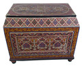 Red Vintage Hand Painted Wooden Trunk - HP-T004