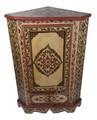 Vintage Hand Painted Corner Cabinet - HP-CA071