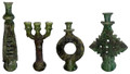 Green Hand Painted Tamegroute Fixtures - CER-C010