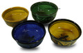 Set of 4 Hand Painted Ceramic Bowls - CER-B002