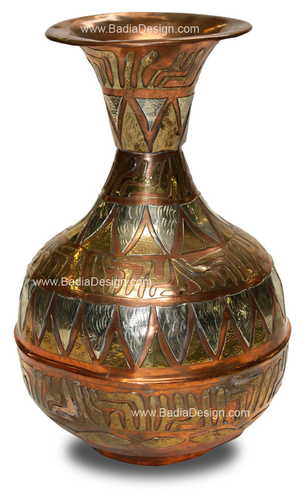 Moroccan Brass And Copper Vase