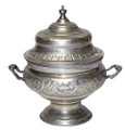 Silver Plated Covered Container  HD023