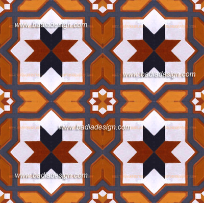 This pattern is created by the combination of many CT005  tile design.