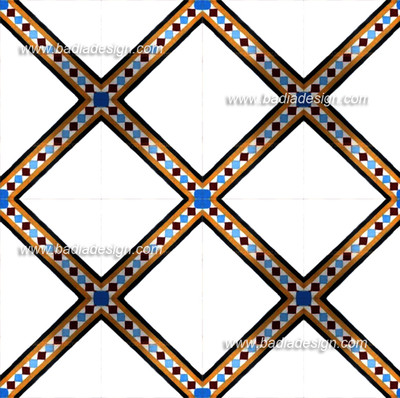 This pattern is created by the combination of many CT018 tile design.