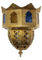 Brass with Multiple Colored Glass Wall Sconce WL013