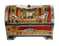 Hand Painted Metal and Bone Jewelry  Box HD058