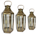 Brass with Clear Glass Lantern LL077