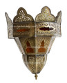 Brass with Colored Glass Wall Sconce - WL025