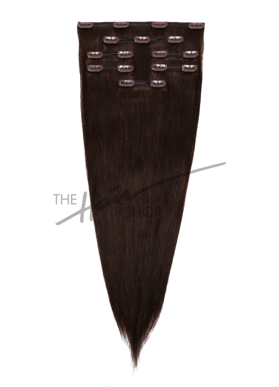 7 Piece Indian Hair Clip In Straight 16