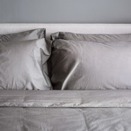 organic bamboo quilt cover set - silver shimmer