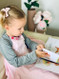 Eczema Mitten Sleeves allow kids access to their hands when needed so they can do all the important things kids need to do!