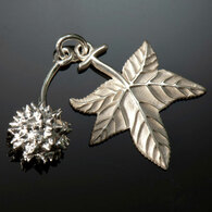 Sweetgum Leaf & Seed Charm