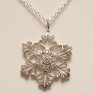 Glisten Snowflake Pendant with Cubic Zirconia