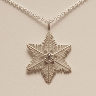 Starlet Snowflake Pendant with Cubic Zirconia