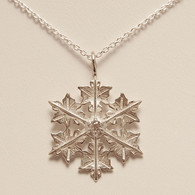 Windy Snowflake Pendant with Cubic Zirconia