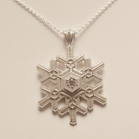 Large Blizzard Snowflake Pendant with Cubic Zirconia
