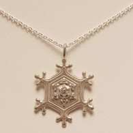 Tingle Snowflake Pendant with Cubic Zirconia