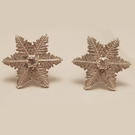 Small Starlet Snowflake Sterling Silver Earrings with Cubic Zirconia