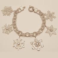 Snowflake Charm Bracelet with Diamonds