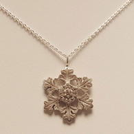 Glisten Snowflake Pendant with Diamonds