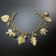 18K American Charm Leaf & Seed Bracelet