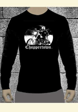 Choppertown' Long-sleeve Motorcycle Tee