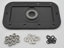 Top View of Sump Plate with Hardware