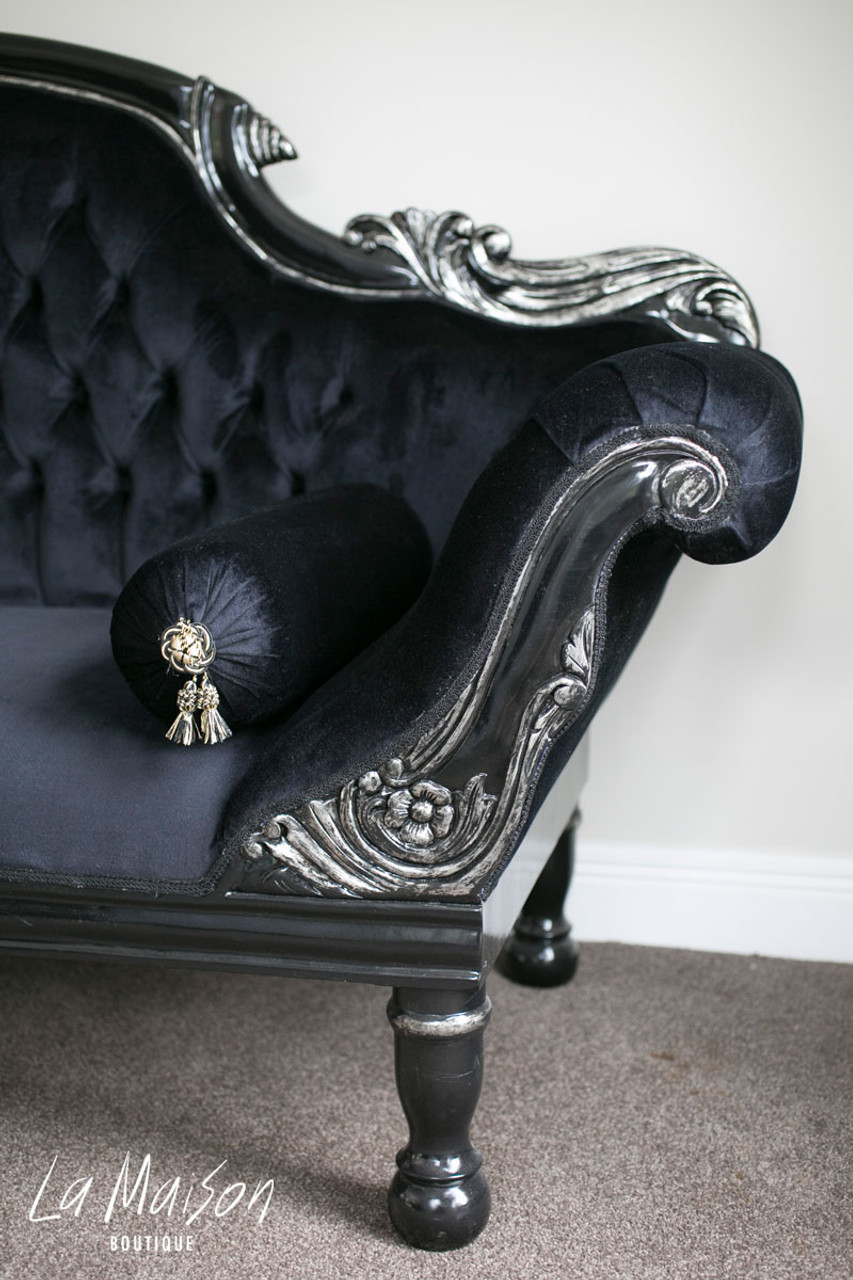 In Stock Now Colonial Double Ended Chaise Longue Black
