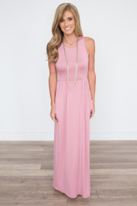 Racerback Maxi Dress - Rose