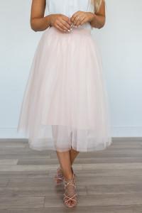 Glass Slipper Tulle Skirt - Blush