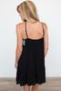 Embroidered Halter Neck Dress - Black - FINAL SALE