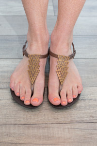 Ipanema Art Deco Sandals - Brown/Bronze - FINAL SALE
