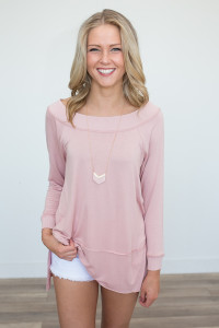 Off The Shoulder Tunic - Blush