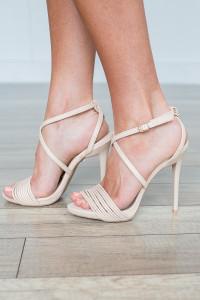 Upper Class High Heels - Cream