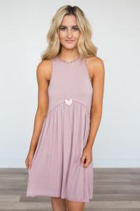 Racerback Babydoll Dress - Dusty Pink
