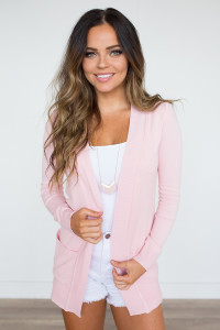 Down By The Bay Knit Cardigan - Pink