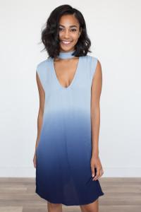 BB Dakota: Jill Ombre Knit Dress - Blue