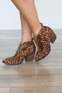 Coconuts By Matisse: Adalyn Leopard Bootie - Tan