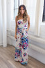 Strapless Floral Knit Maxi Dress - Cream - FINAL SALE
